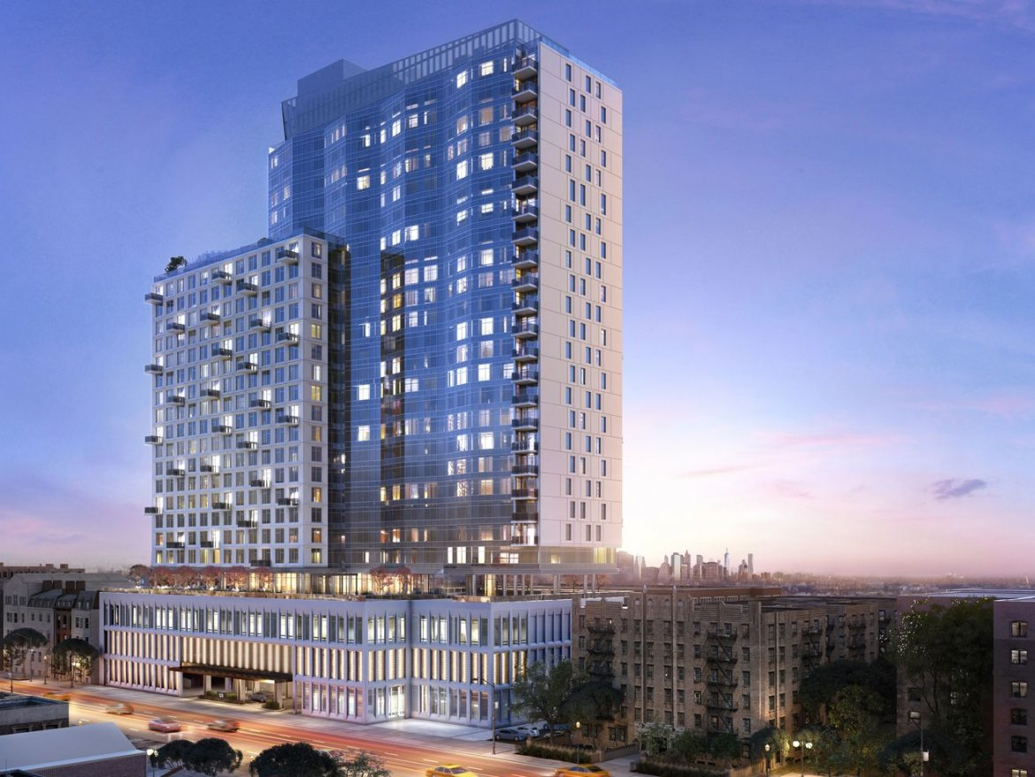 First look at Moinian's 26-story tower in Prospect Lefferts Gardens