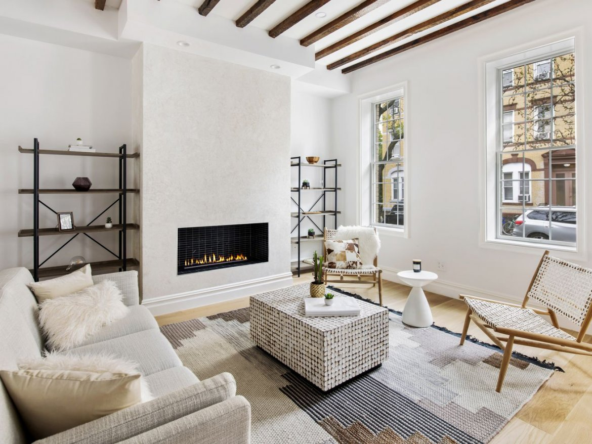 Rustic, renovated Greenpoint townhouse wants $3.495M