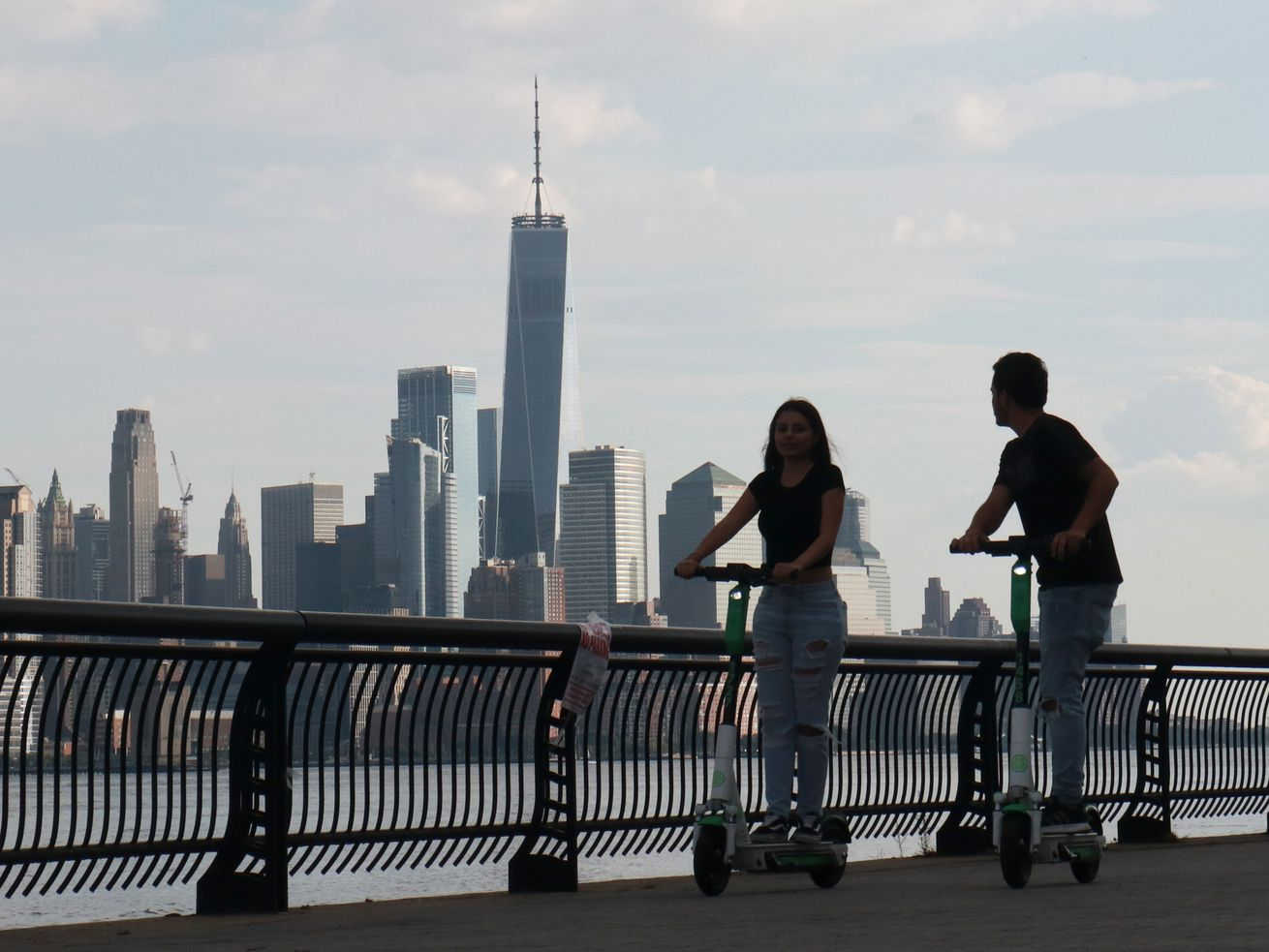 Lime Scooters in Hoboken, New Jersey