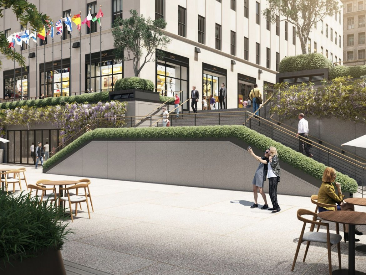 Rockefeller Center's public plaza could get a major revamp